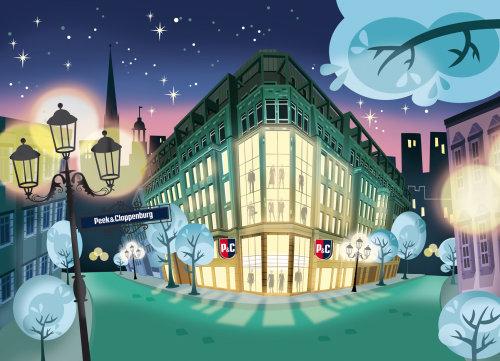 Architecture illustration of Peek & cloppenburg hotel
