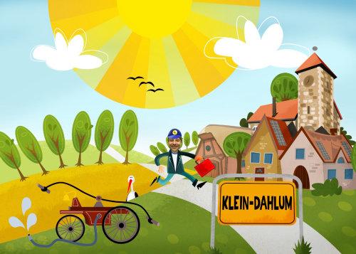 Architecture illustration of Klein Dahlum