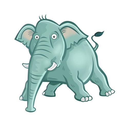 Graphic design of elephant