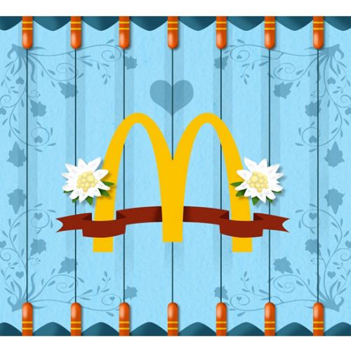 Graphic design of McDonald's logo