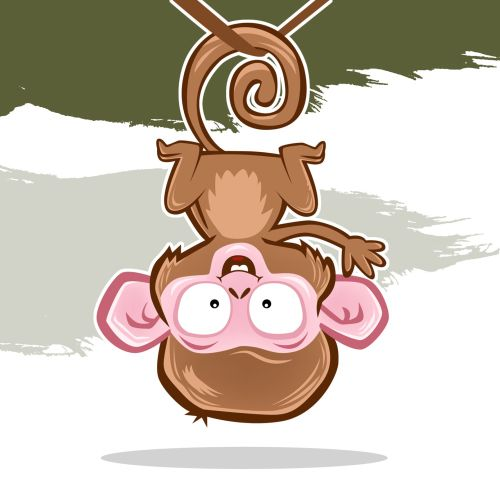 Cartoon animal monkey illustration