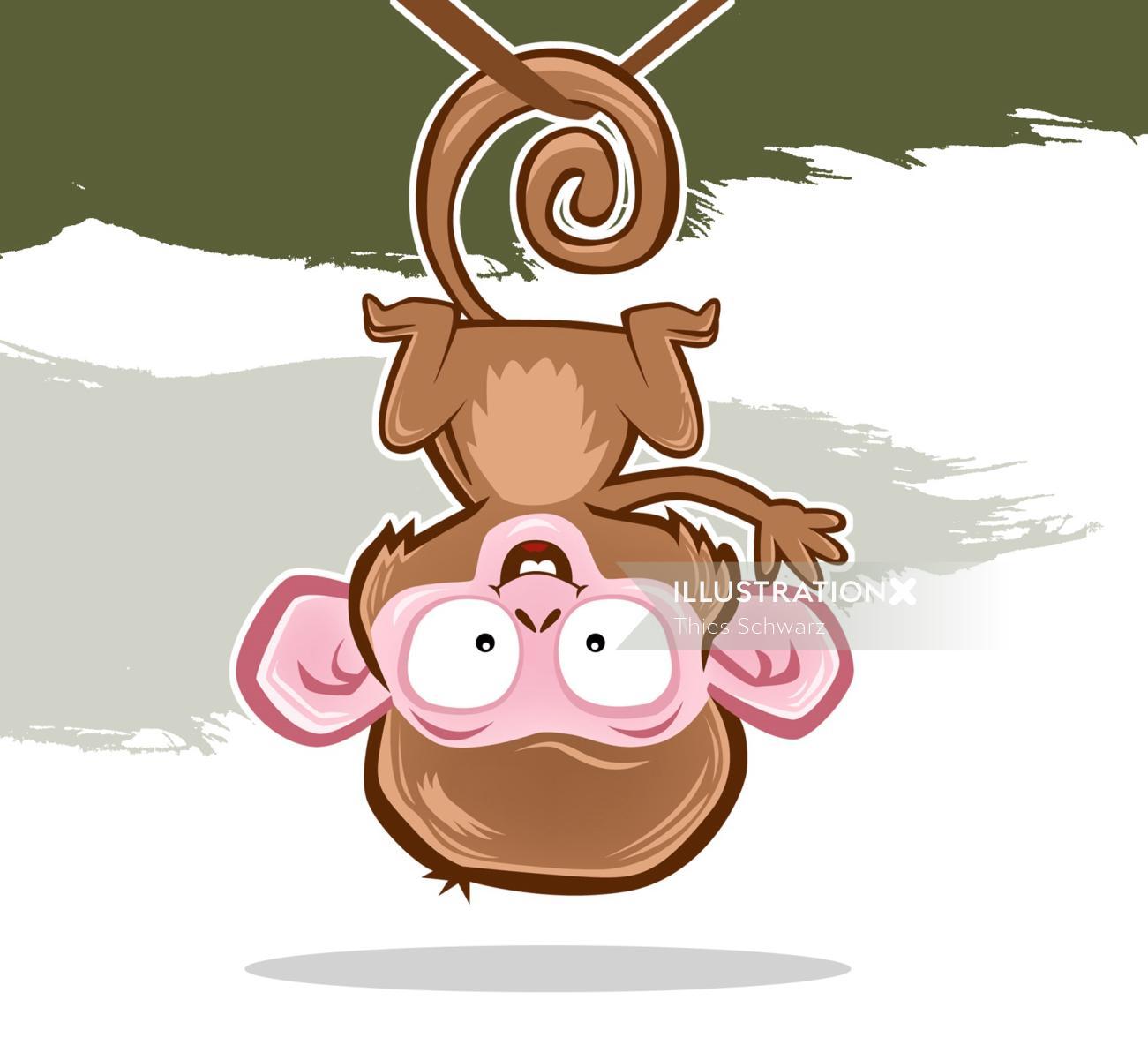Cartoon animal monkey illustration