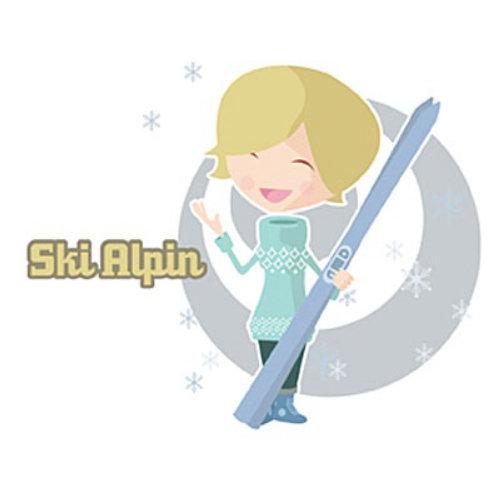 Woman with SKI blade
