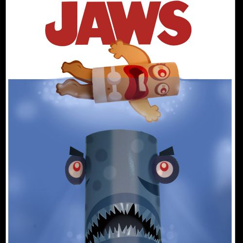 Funny Toilet paper from jaws movie