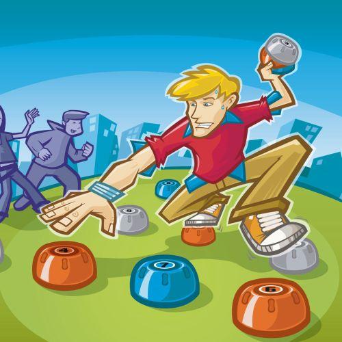 Teenagers outdoor game