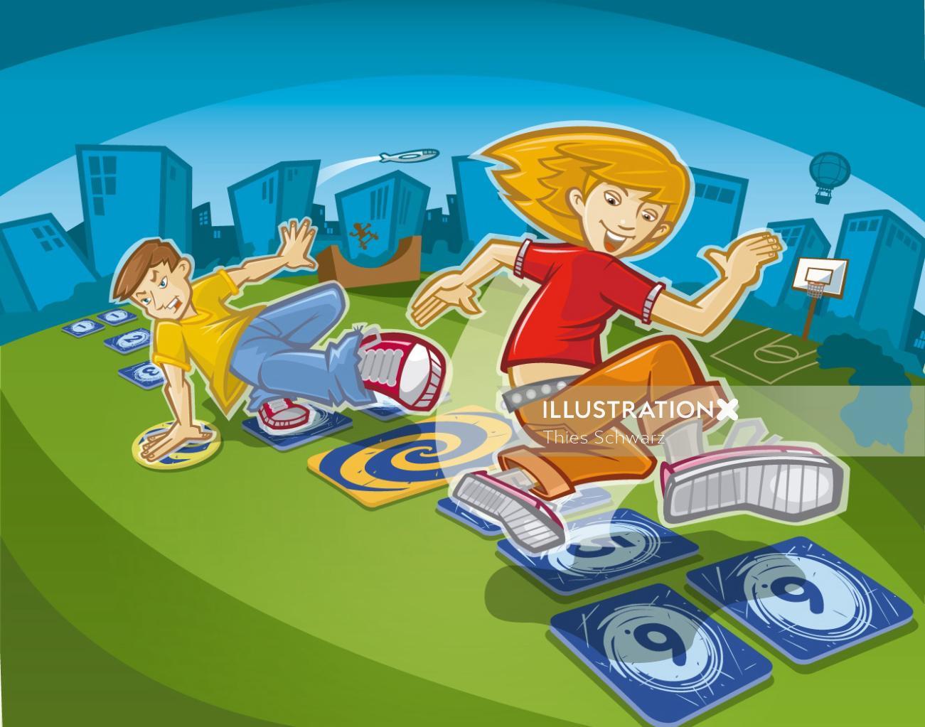 Outdoor Hip Hop Game