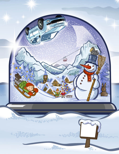 Snow Globe with characters