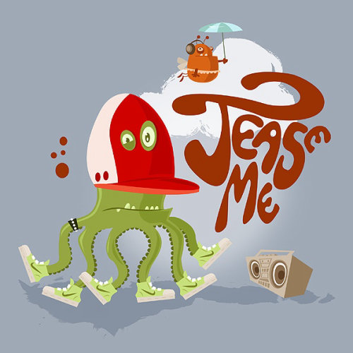 Crazy hip hop octopus dancer