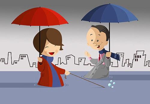 Meeting in Lovely rain