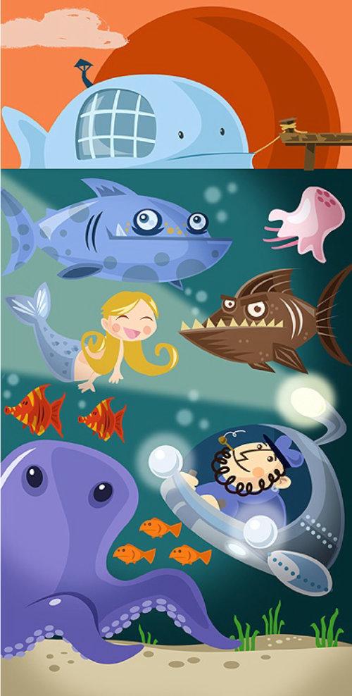 Submarine underwater expedition