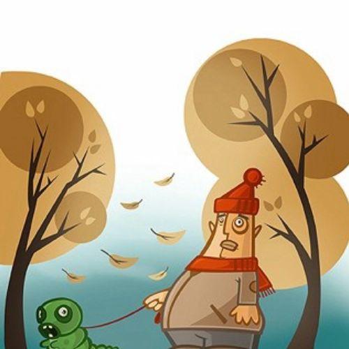 Caterpillar with Leader illustration