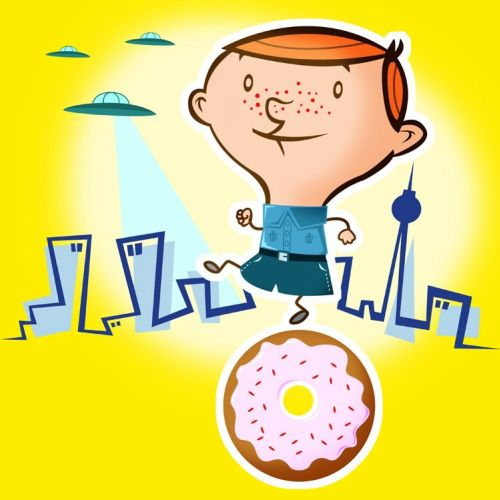 Boy UFO and Donut