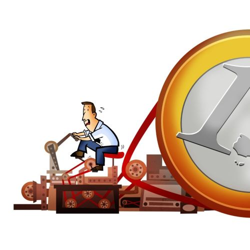 Man with 1 Euro
