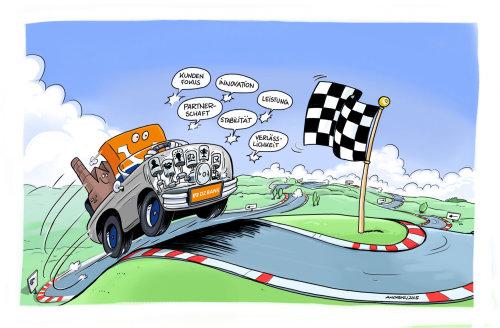 Storyboard Illustration of racing car