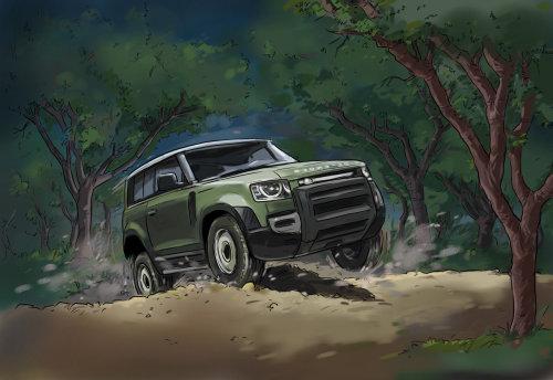 Adventure jeep loose illustration
