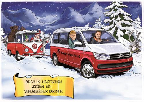 christmas loose illustration poster