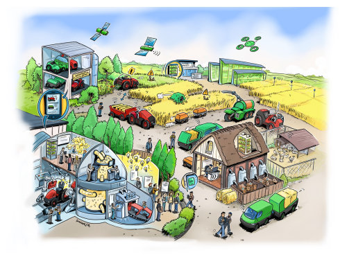 Agriculture market loose illustration