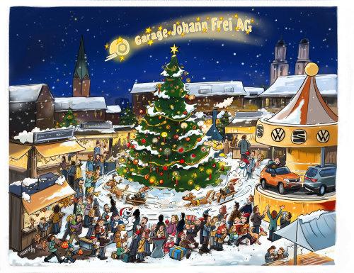 圣诞展览素描