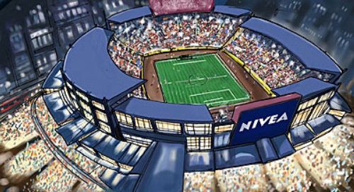 sports Architecture, Stadium with full people, tennis court