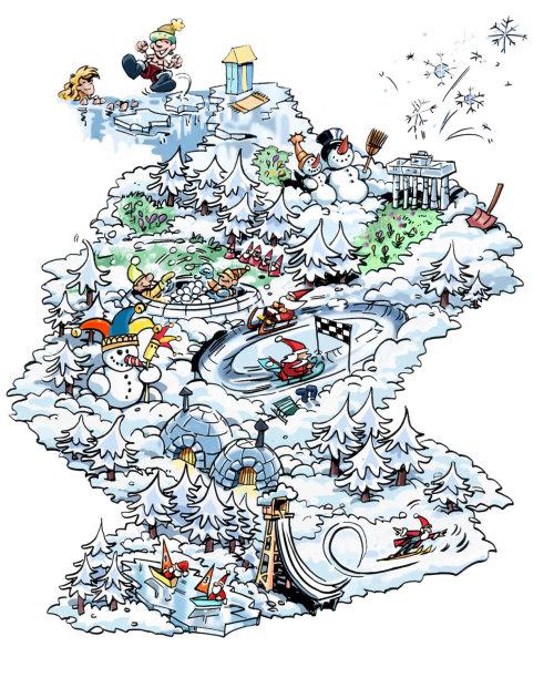 地图内有线条的绘图