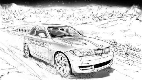白色的汽车在路上行驶,Vehichle前视图