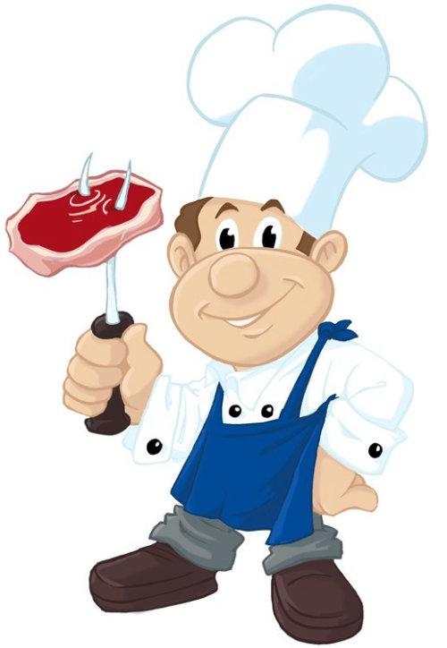 Fat cartoon chef illustration by Thomas Andrae