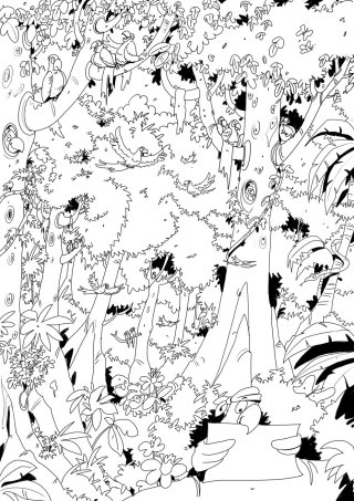 line art of people and design collage