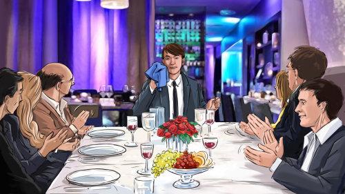 餐桌旁的男人