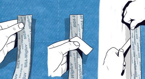 Esboço de fita adesiva