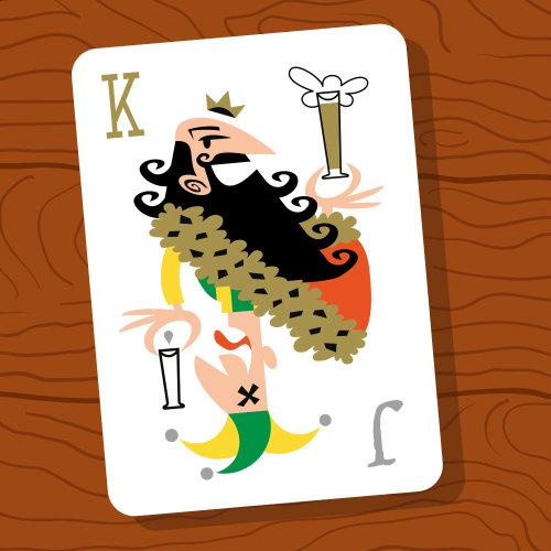 Ilustração do cartão rei dos desenhos animados
