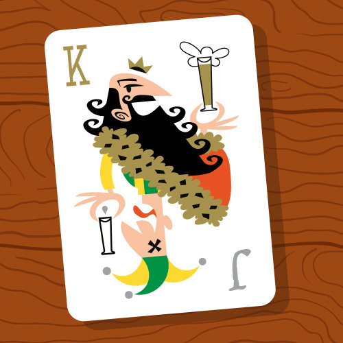 Cartoon king card illustration