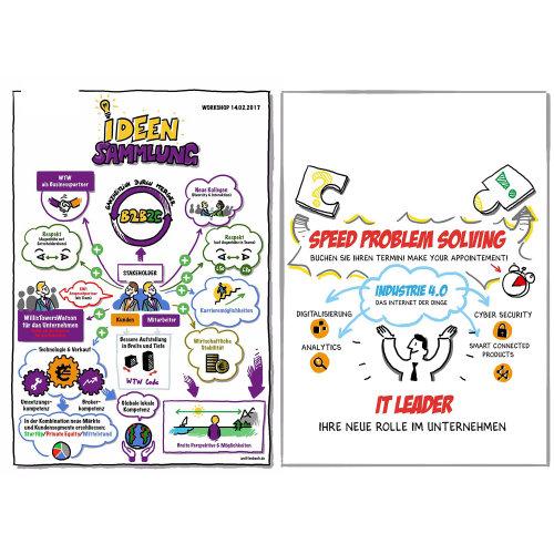 Infographic illustration of ideen sammlung