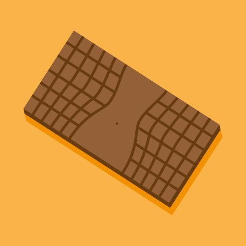 Vector art of chocolate