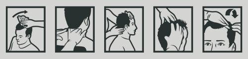 Desenho linear de massagem na cabeça