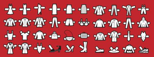 Ilustração de adesivos de estilo de vestir