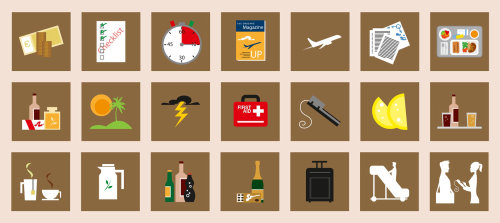 Stickers illustration of traveling checklist