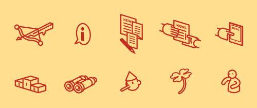 Ilustração do ícone de pesquisa de notícias