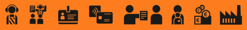 Ilustração do ícone de ícones de atendimento ao cliente