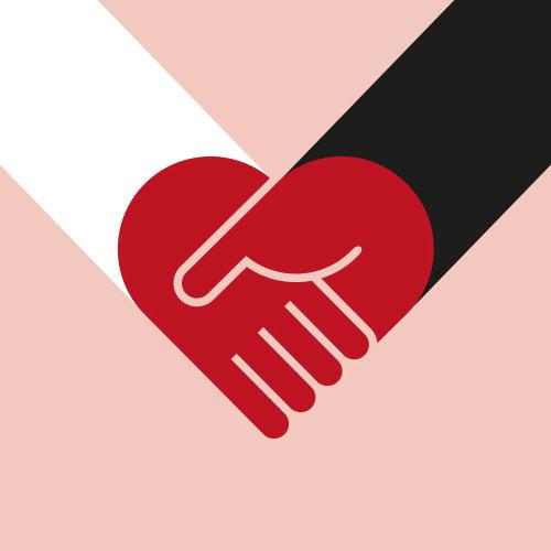 Vector illustration of shake hands