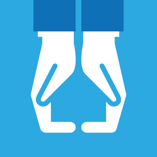 Ilustração vetorial de sinal de mão