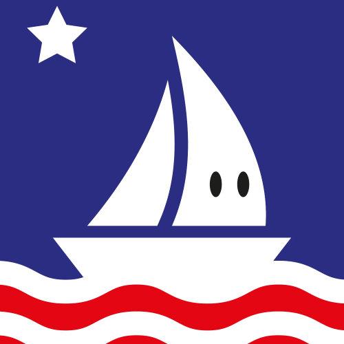 Cartoon illustration of smiling boat