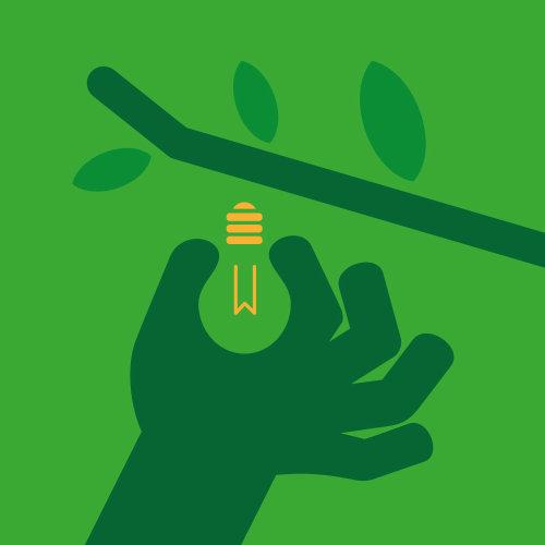 Vector illustration of harvesting ideas
