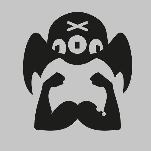 Desenho de personagem do símbolo de piratas