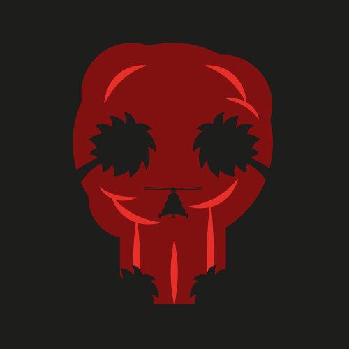 Ilustração vetorial de fantasma vermelho