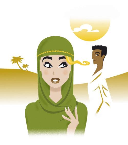 povo homem e mulher no norte da áfrica