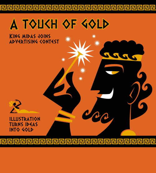 Ilustração em vetor de toque de ouro