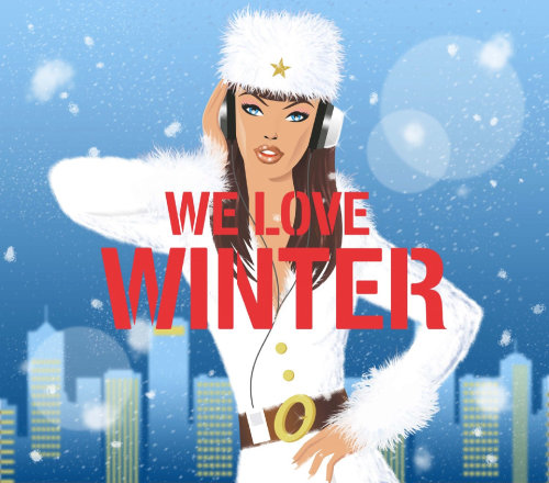Arte editorial de inverno