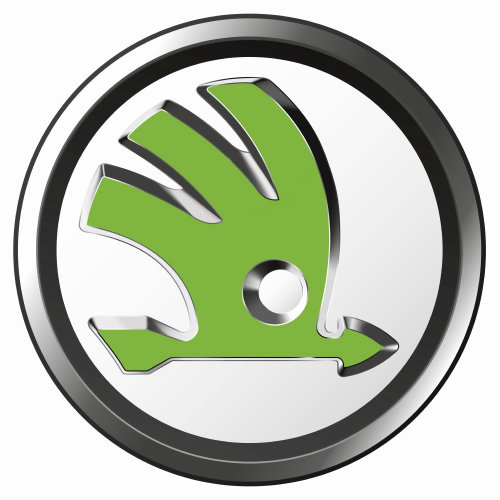 Design gráfico do logotipo da empresa scoda