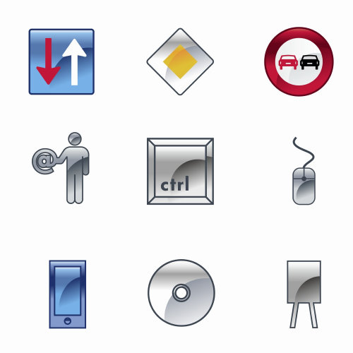 Graphic design of technical signs