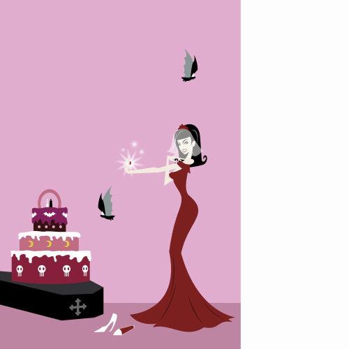 Retro art of birthday celebration